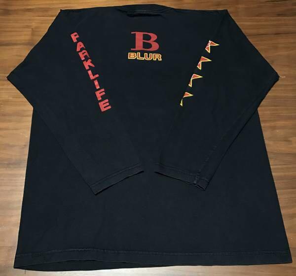 90s ビンテージ blur ブラー ロンT Tシャツ XLサイズ 90年代 ヴィンテージ バンドT OASIS NIRVANA ブリットポップ_画像2
