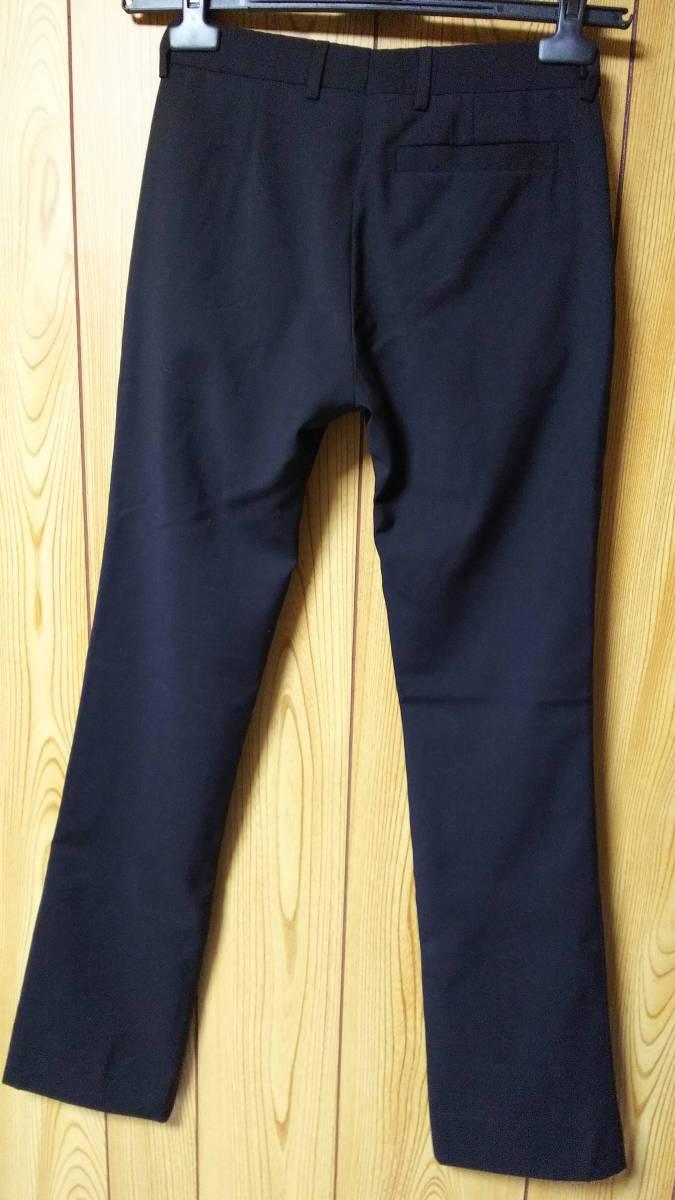 正規良 激レア Dior Homme ディオールオム スラックス黒 40P XXS 男女兼用可◎26 スーツ フレアパンツ セットアップ ブラック無地 メンズ_状態良好☆エディ期の名作モデル☆