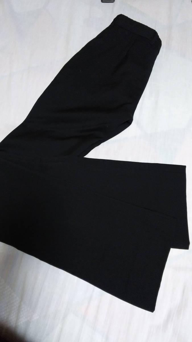 正規良 激レア Dior Homme ディオールオム スラックス黒 40P XXS 男女兼用可◎26 スーツ フレアパンツ セットアップ ブラック無地 メンズ_ホツレや破けもなく状態良好