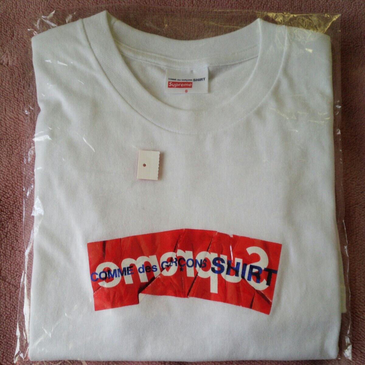 新品 supremeコムデギャルソン Tシャツ Sサイズ