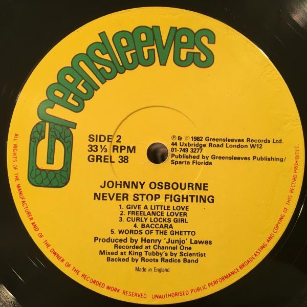 ★Johnny Osbourne/Never Stop Fighting★ROOTS名盤!SCIENTIST!_画像3