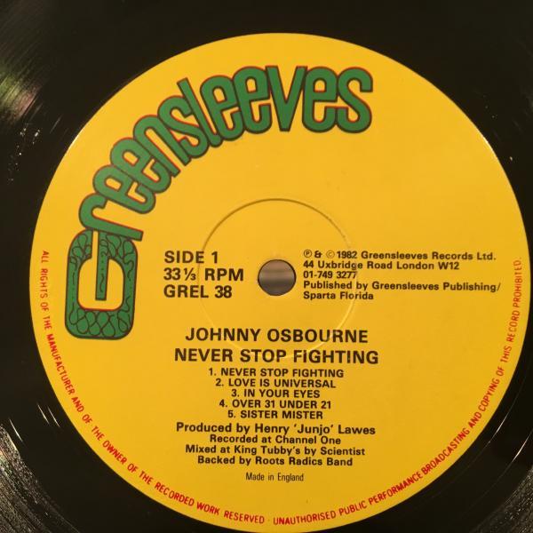 ★Johnny Osbourne/Never Stop Fighting★ROOTS名盤!SCIENTIST!_画像2