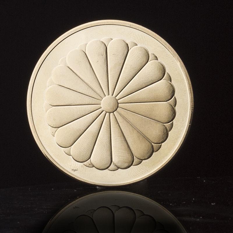 24KGP 記念メダル 菊の御紋 菊紋 鳳凰 メダル 金 ゴールド コイン_画像9