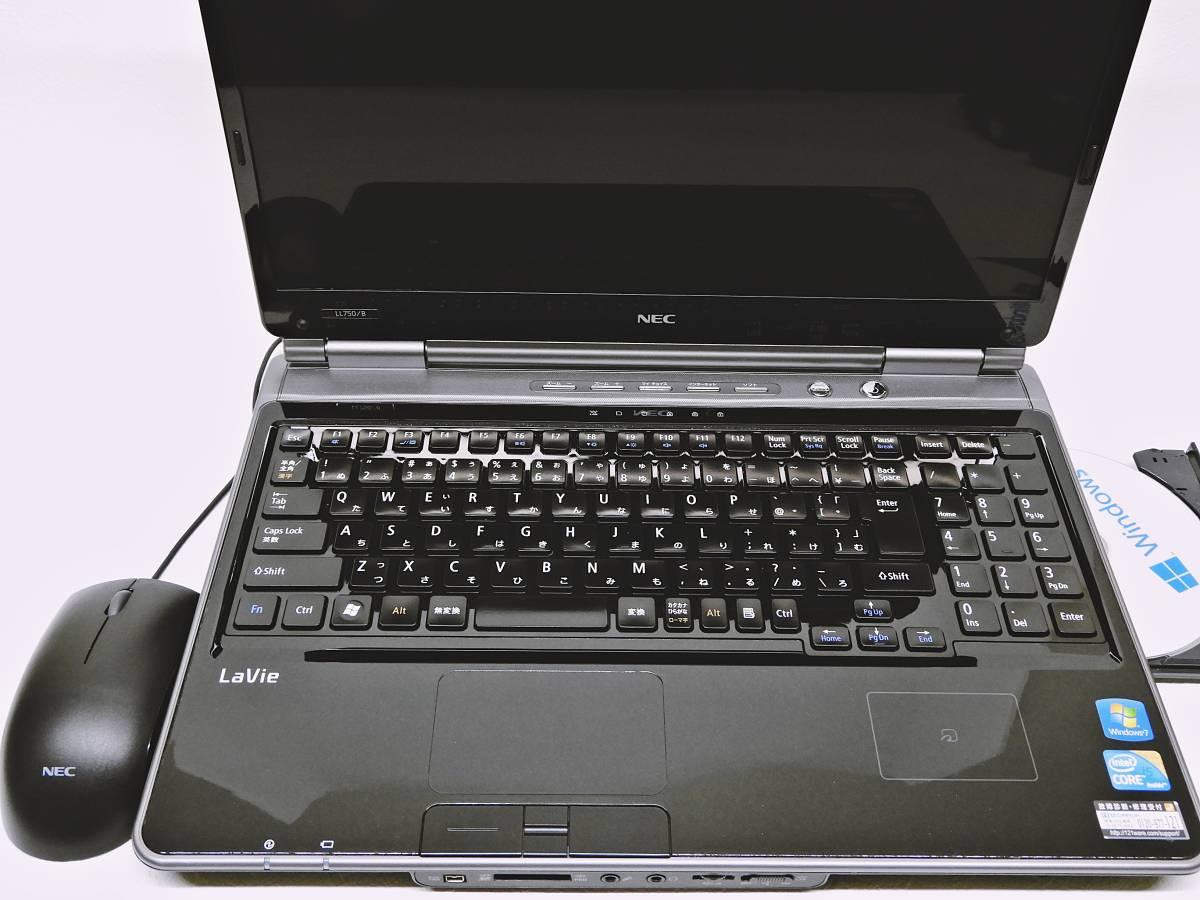 NEC LaVie / 新品SSHDハイブリッド(SSD内臓8GB+HDD1000GB) /Ram4GB/Windows10/WIFI/Office2013/Blu-ray/ Core i5/AC Adapter/ LL750/BS_画像7