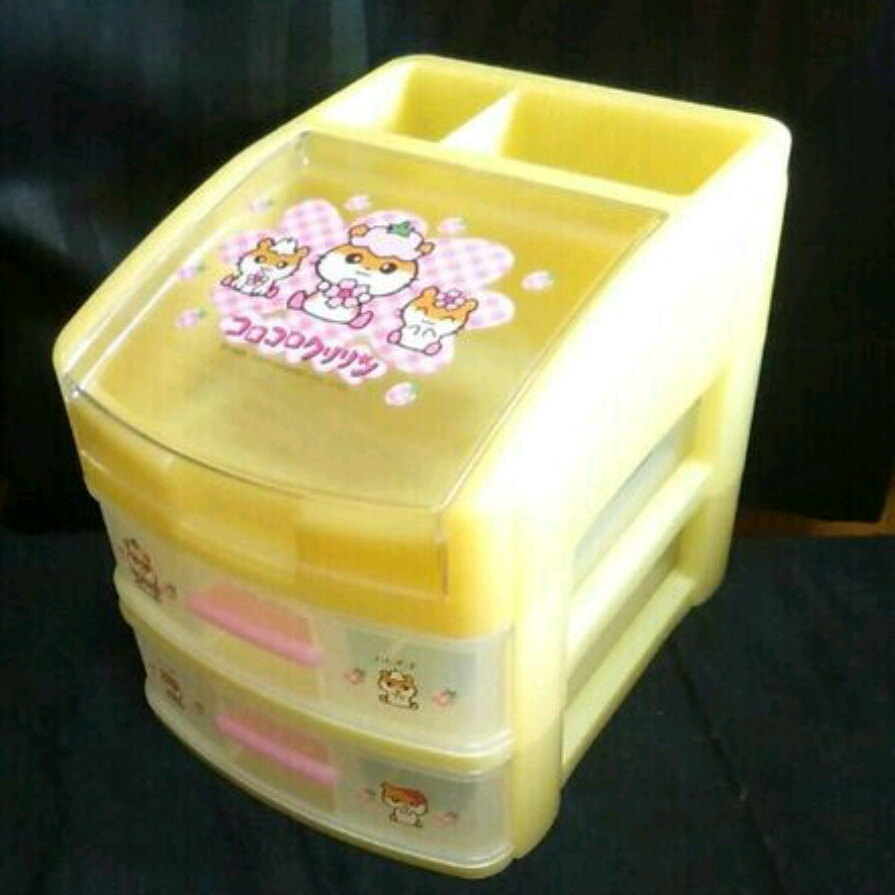 レア 新品 1998 2000 コロコロクリリン チェスト 収納BOX プラチェスト 収納 ボックス box ケース 小物入れ サンリオ クリリン ハムスター_画像1