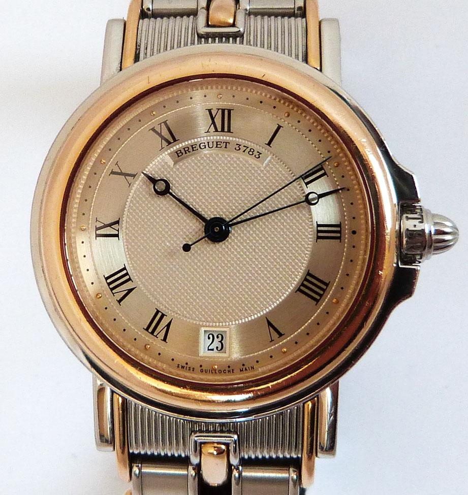 ブレゲ マリーン デート 4400 腕時計 SS/YG コンビ クラシック 40ミリ 自動巻 中古 箱 保証書
