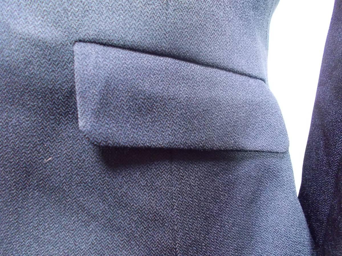 30-156新品ブラックフォーマルスーツセレモニー黒テーラードジャケット半袖シフォンワンピース5号S SS5AR58卒業式入学式結婚式発表会_画像4