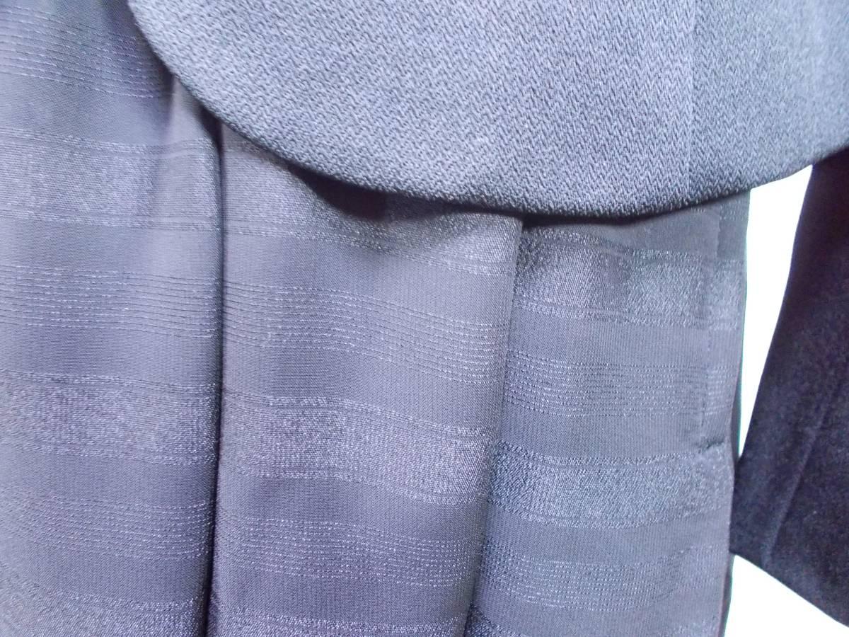 30-156新品ブラックフォーマルスーツセレモニー黒テーラードジャケット半袖シフォンワンピース5号S SS5AR58卒業式入学式結婚式発表会_画像5