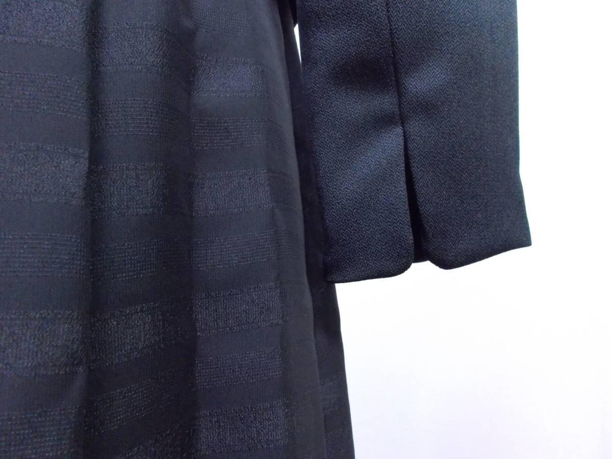 30-156新品ブラックフォーマルスーツセレモニー黒テーラードジャケット半袖シフォンワンピース5号S SS5AR58卒業式入学式結婚式発表会_画像6