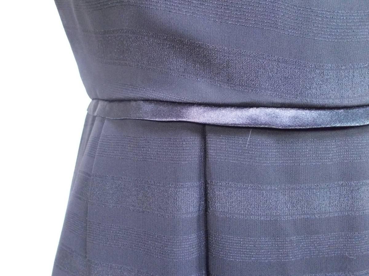 30-156新品ブラックフォーマルスーツセレモニー黒テーラードジャケット半袖シフォンワンピース5号S SS5AR58卒業式入学式結婚式発表会_画像10