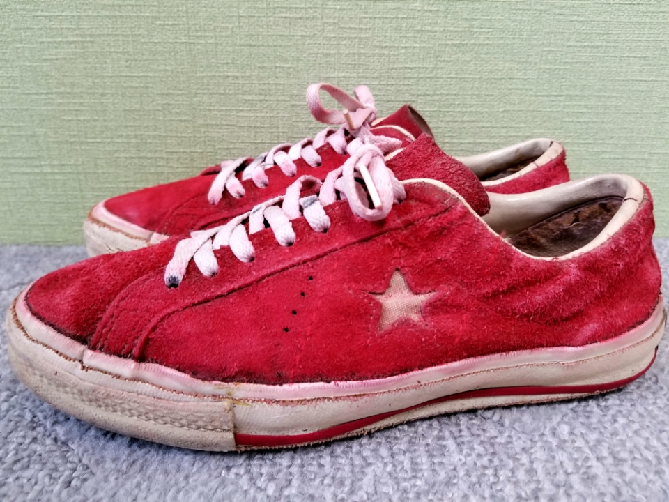 0cd5add9a83525 prompt decision free shipping rare 60s~70s USA made converse Converse  onestar one Star suede