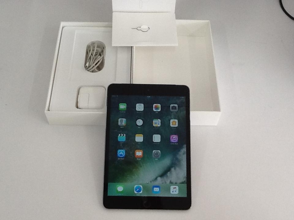 ★★au Apple iPad mini 3 Wi-Fi + Cellular 16GB スペースグレイ 判定○ MGHV2J/A 箱・付属品付★★