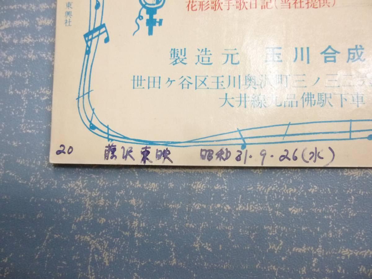 映画パンフ★東映ウイークリー 夕日と拳銃★東千代之介_画像3