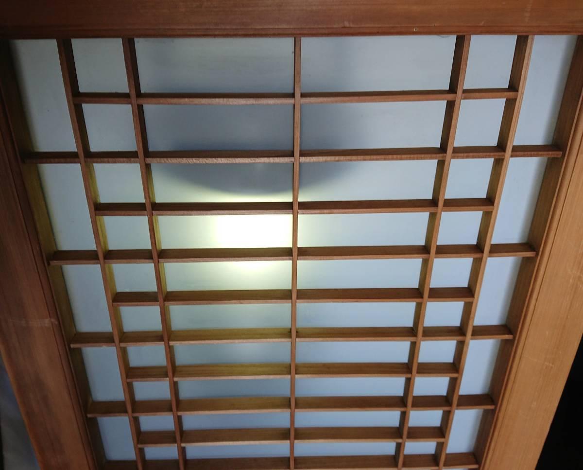 アンティーク 古民具 曇りガラス 昭和 レトロ 引き戸 古民家 W-1380_画像2