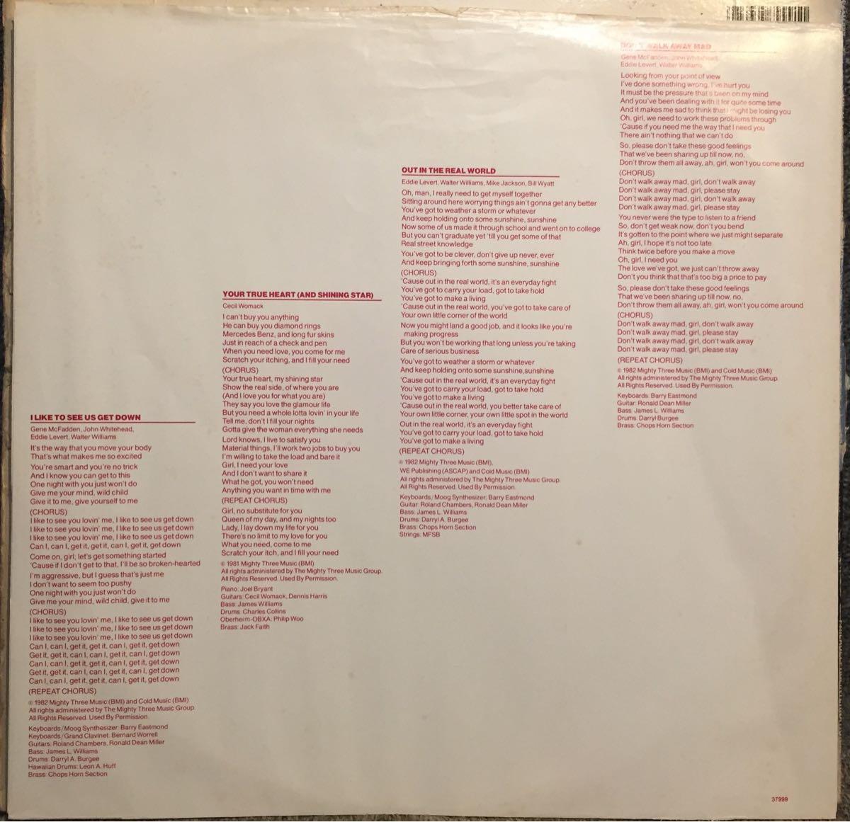 【US盤】【即決】【LP】The O'Jays My Favorite Person / インナースリーブ付 / 試聴済_画像3