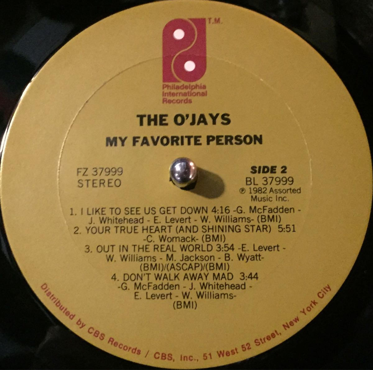 【US盤】【即決】【LP】The O'Jays My Favorite Person / インナースリーブ付 / 試聴済_画像4
