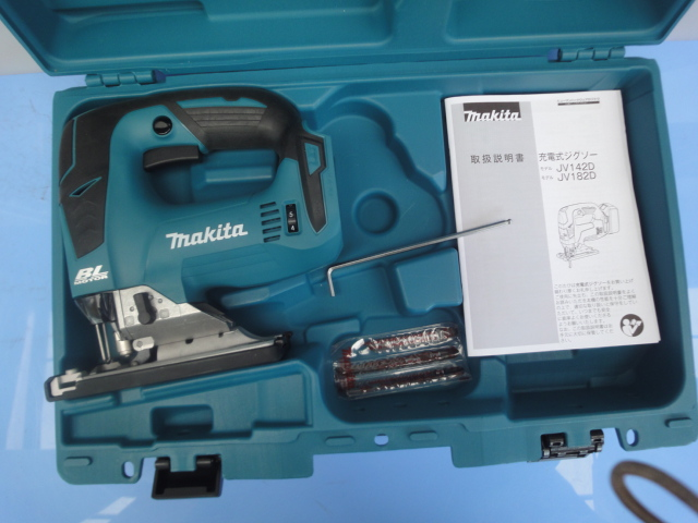 マキタ【MAKITA】充電式ジグソー JV182DZK 18Vリチウムイオンバッテリが使い回せる経済性  本体+ケースのみ マキタ純正替刃 6枚つき _画像5