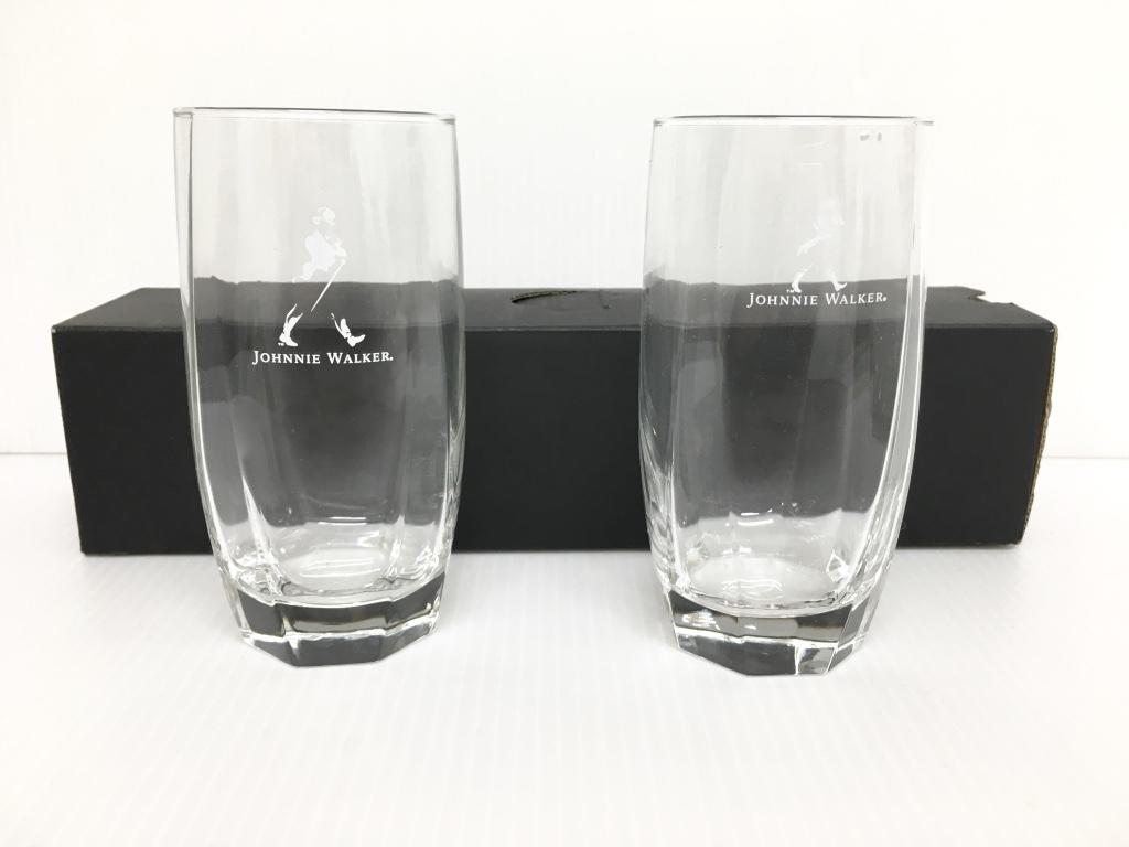 美品●JOHNIE WAKER ジョニーウォーカー タンブラー ガラス グラス コップ カップ 管理1802_画像1