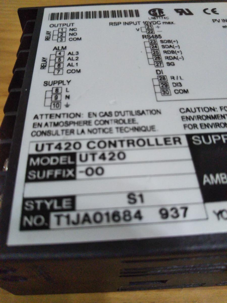 横河電機 デジタル指示調節計 UT420_画像3