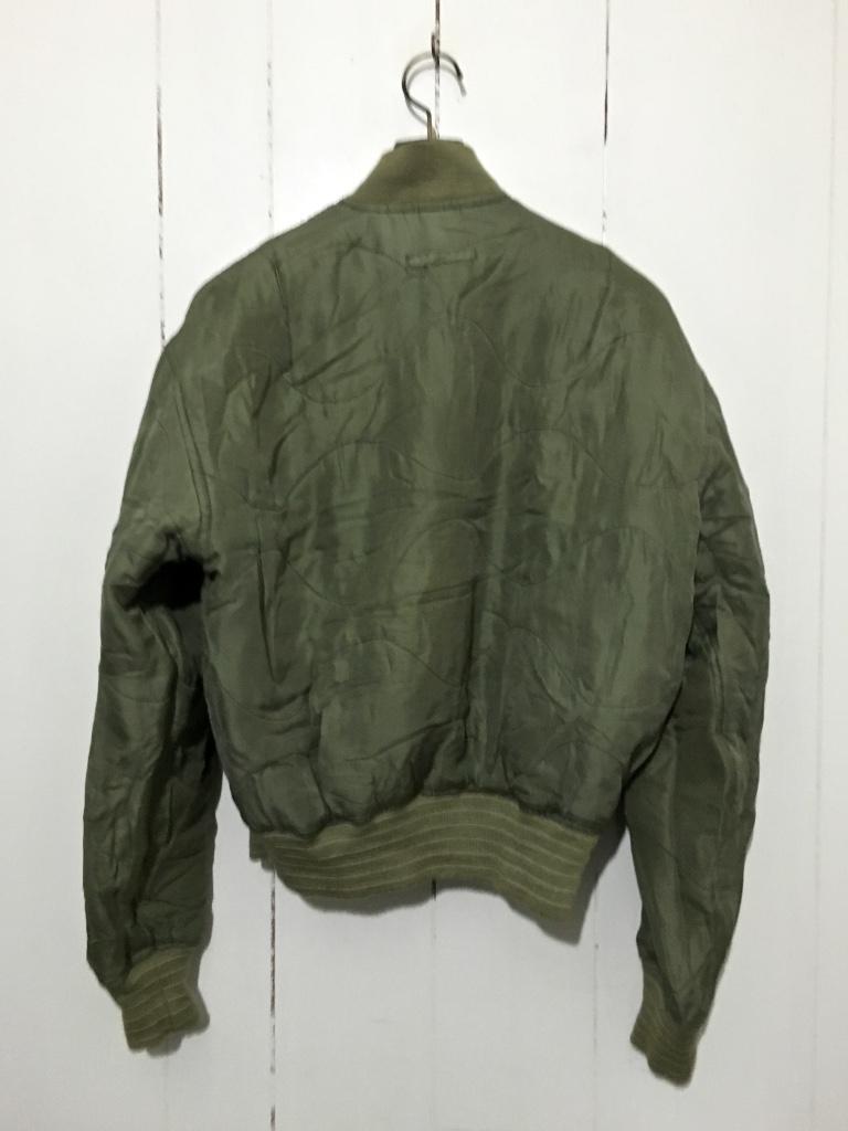 ☆DOG FIGHT ドッグファイト MA-1 リバーシブルジャケット キルティングジャケット カーキ 緑 1 フライトジャケット_画像4