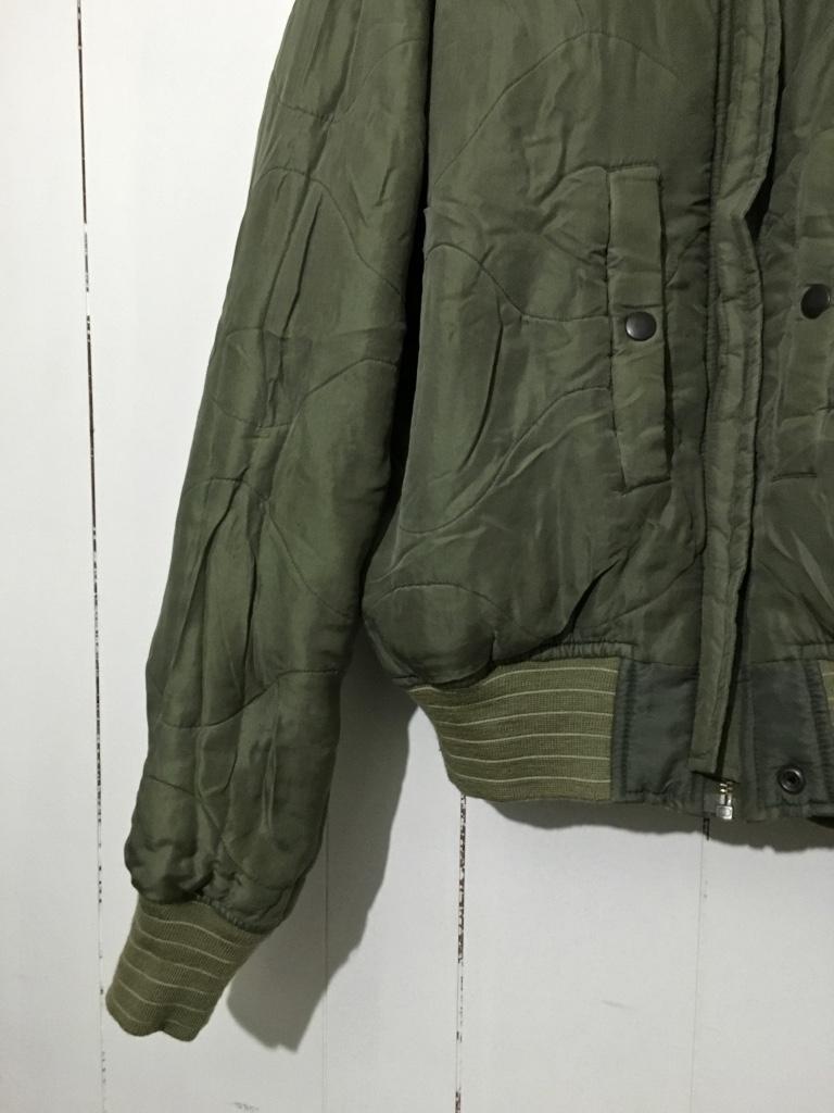 ☆DOG FIGHT ドッグファイト MA-1 リバーシブルジャケット キルティングジャケット カーキ 緑 1 フライトジャケット_画像7