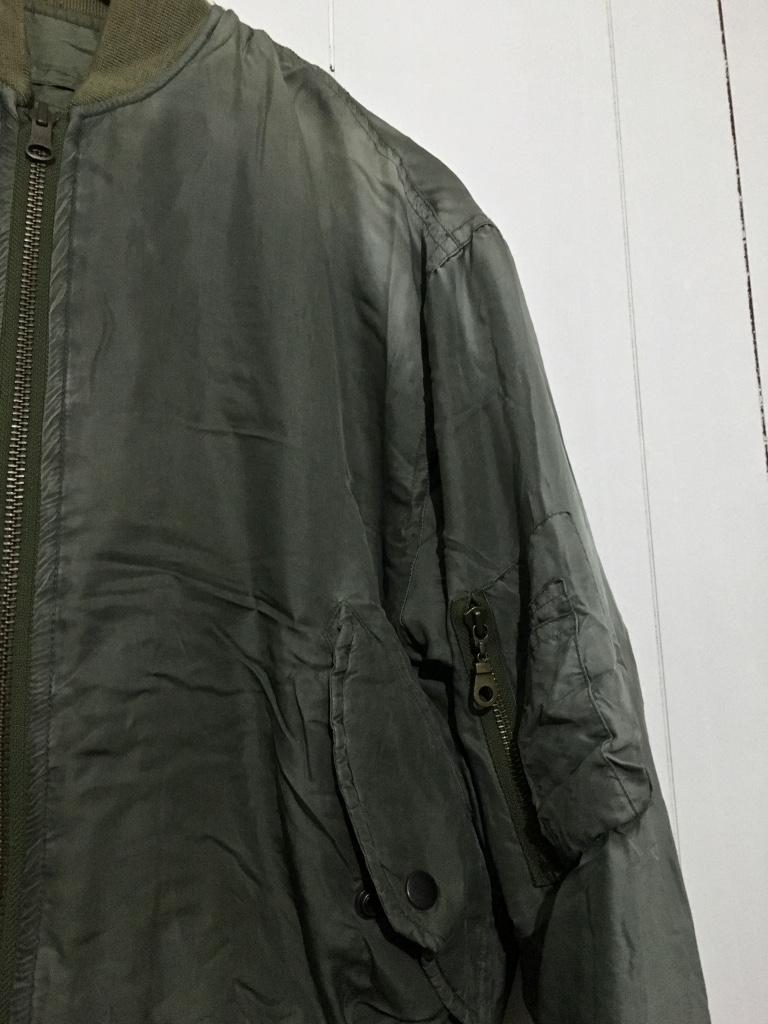☆DOG FIGHT ドッグファイト MA-1 リバーシブルジャケット キルティングジャケット カーキ 緑 1 フライトジャケット_画像6