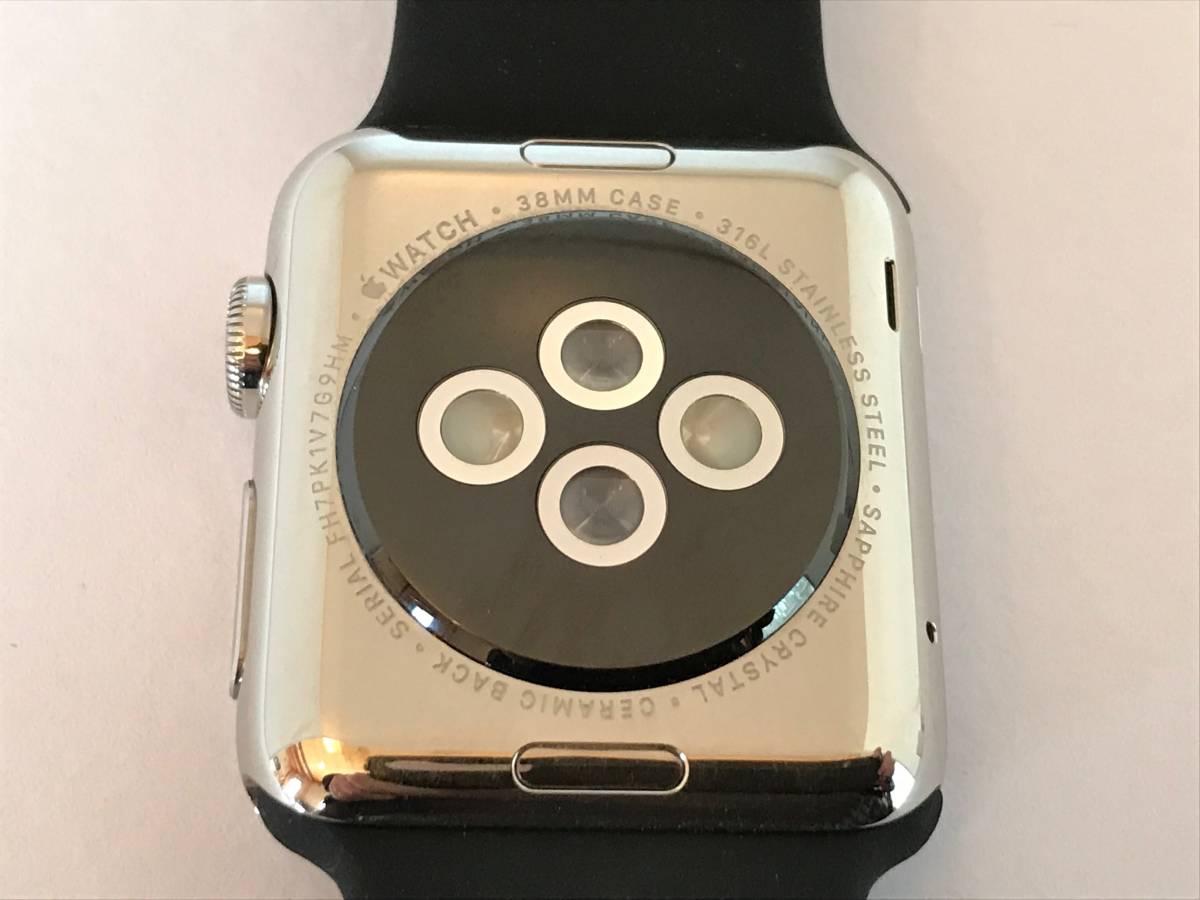 Apple Watch 38mm Model: A1553 初代 第1世代 ステンレススチールケース_画像4