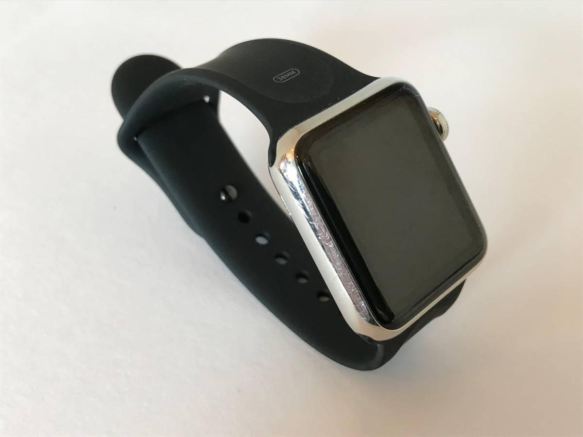 Apple Watch 38mm Model: A1553 初代 第1世代 ステンレススチールケース_画像5