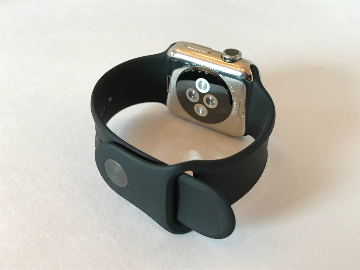 Apple Watch 38mm Model: A1553 初代 第1世代 ステンレススチールケース_画像6