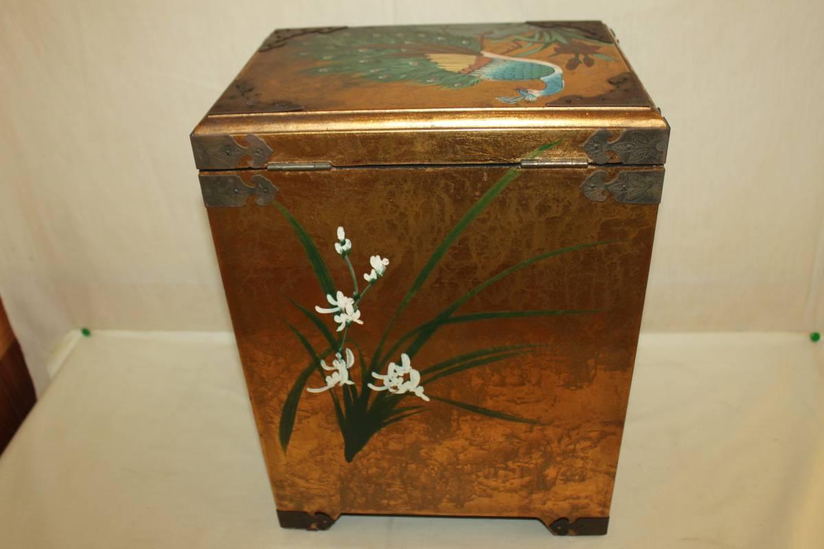 ◆李朝 宝石箱 旧家蔵出骨董初だし 尾形光琳風彩色 花鳥図_画像8