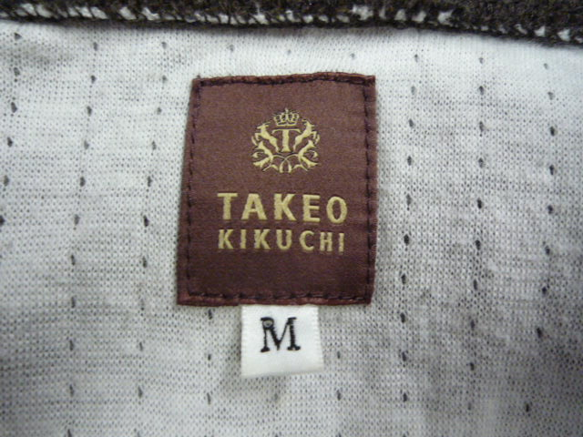〇 TAKEO KIKUCHI タケオキクチ ジップ 長袖トップス 茶系 サイズM 〇_画像4