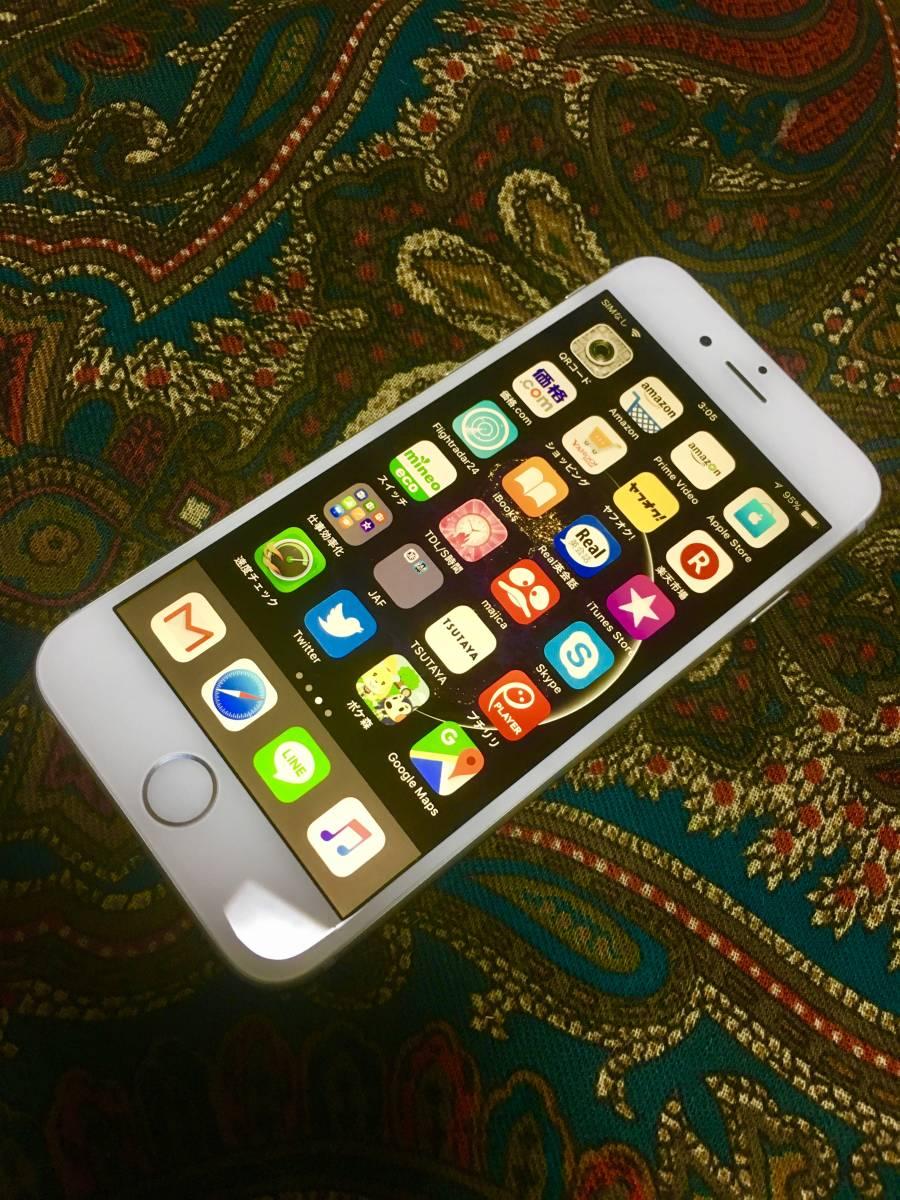 【良品】iPhone6 64G silver バッテリー良好です ケーブルのみ欠品