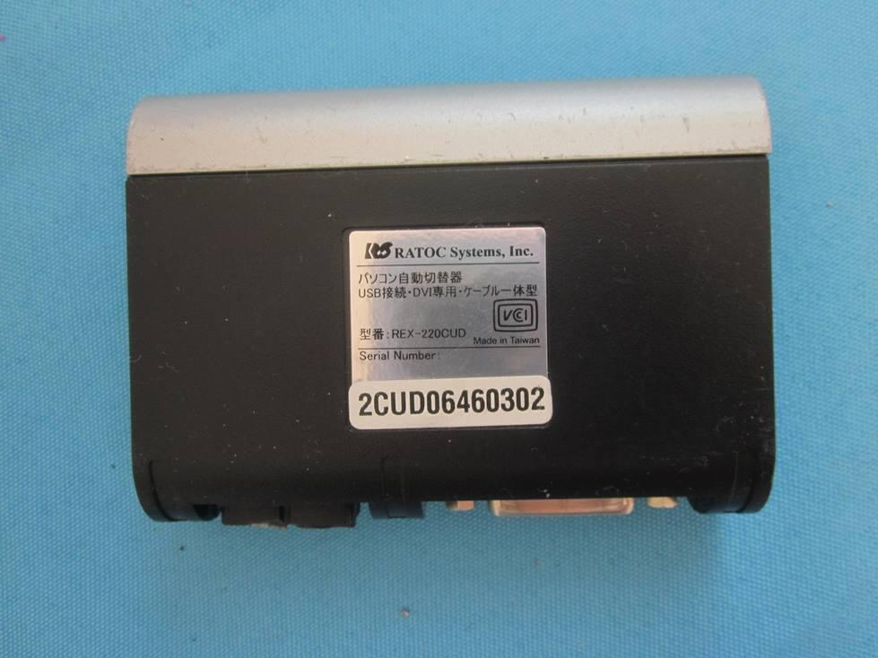Ratoc パソコン自動切替器 REX-220CUD ★通電OK!ジャンク_画像3