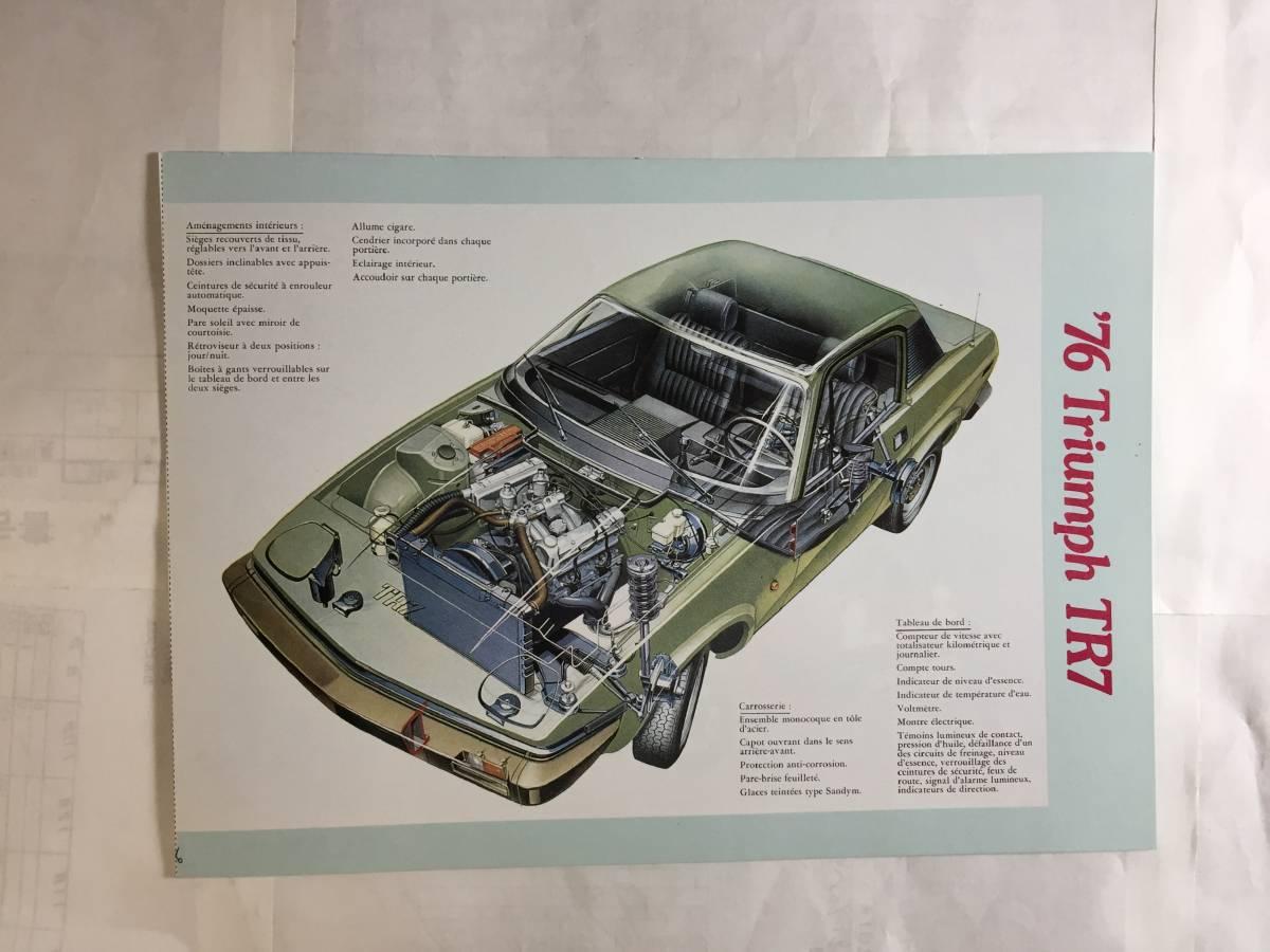 1976 トライアンフTR7 復刻版カタログ(フランス語版)(雑誌中綴じ付録)_画像5