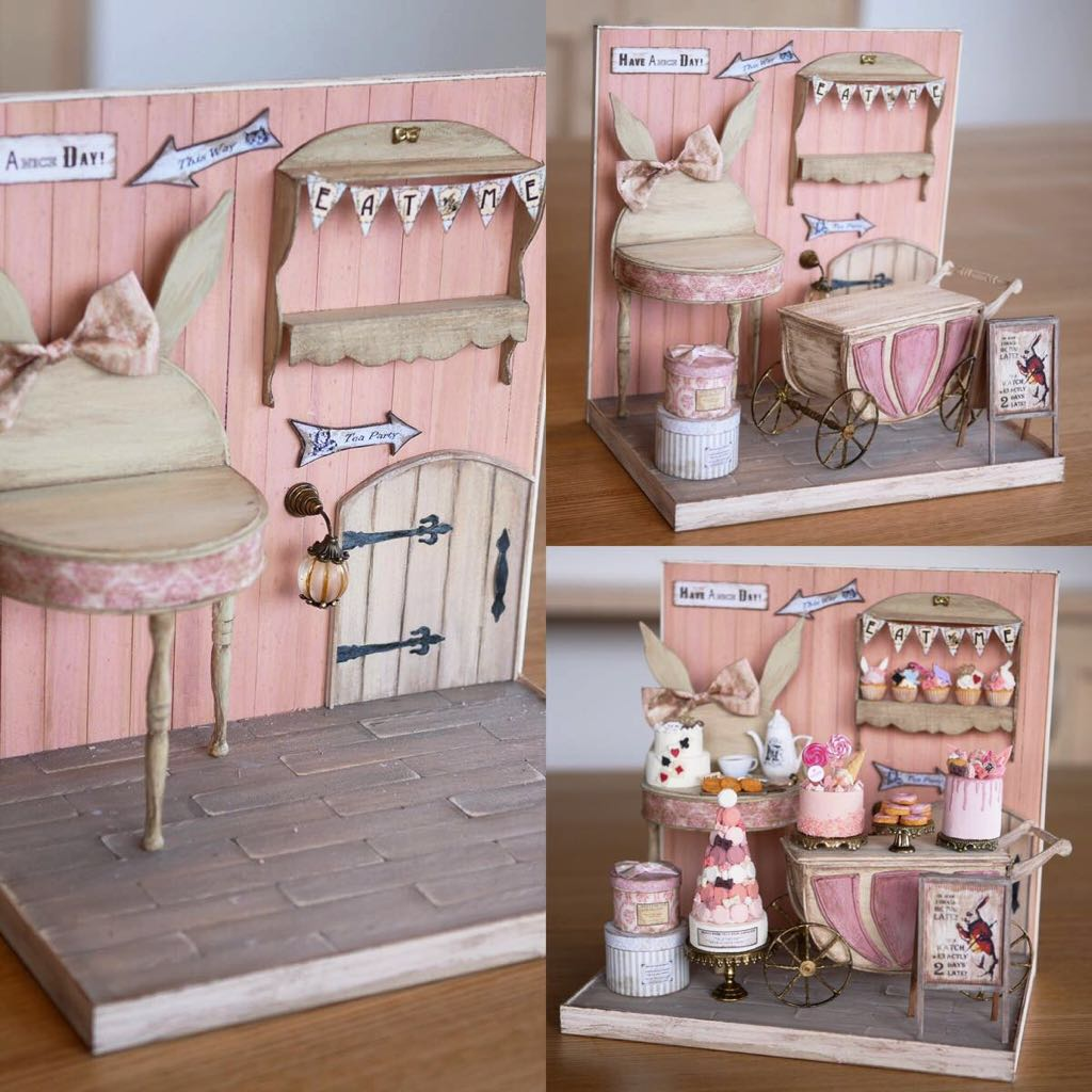 noecoro's【ミニチュア】【ドールハウス】 sweet room in fairy tale._画像6