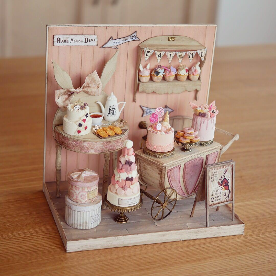 noecoro's【ミニチュア】【ドールハウス】 sweet room in fairy tale.