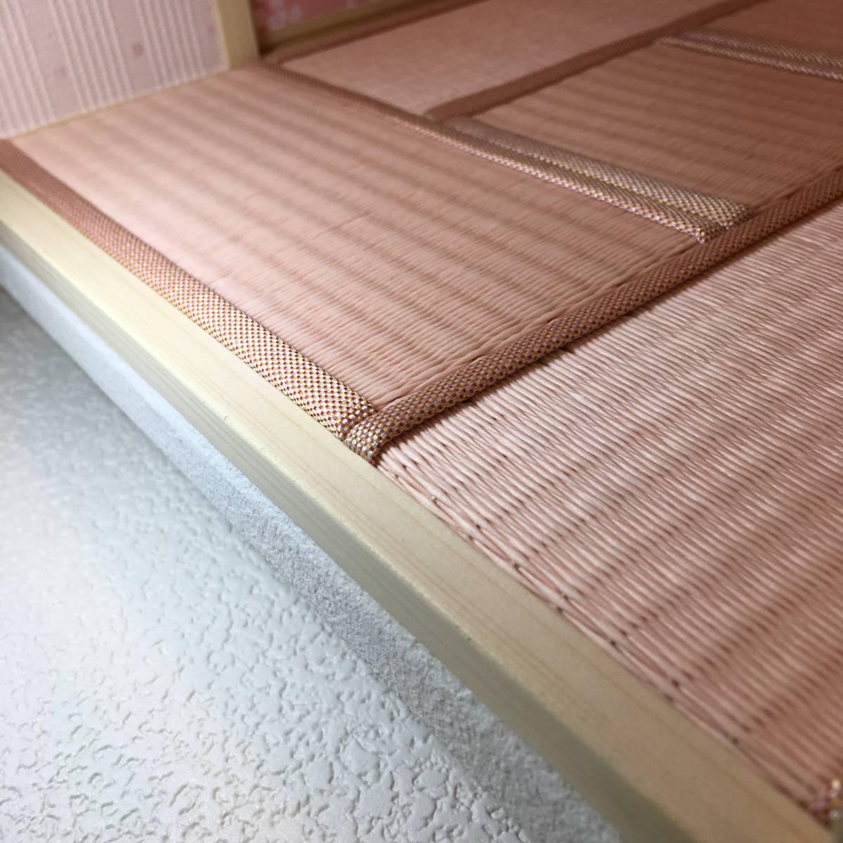 ドールハウス 和室 和風 畳部屋 1/12 サイズ ピンク ポップ桜の間。プチブライス ピコニーモ あまむす オビツ11のミニチュア人形装飾撮影等_画像9