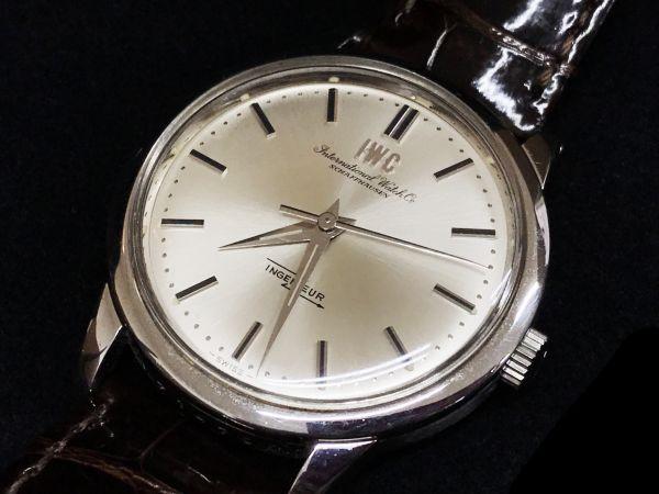 ∇IWC ヴィンテージ INGENIEUR Cal.853 Ref.666 インヂュニア 自動巻き 腕時計 クロコベルト