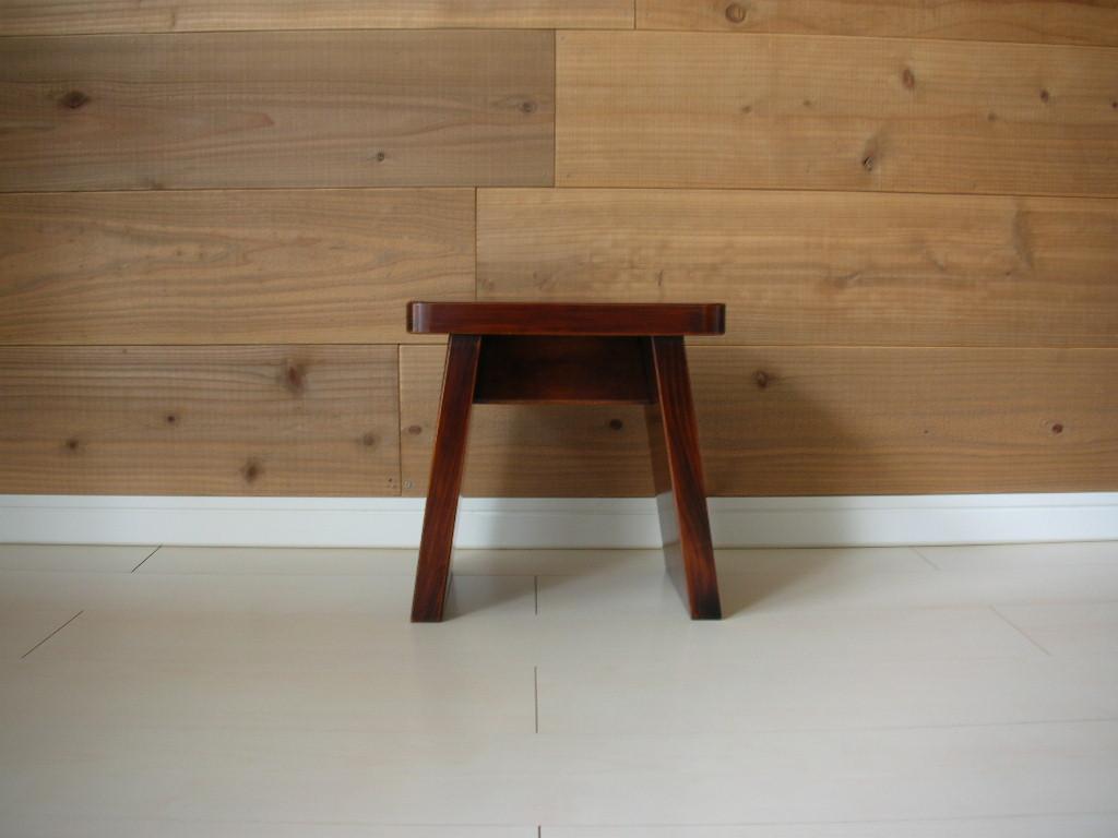 漆塗り 風呂椅子 未使用 イス バスチェア 職人 長野木曽 日本製 手仕事(検)無印良品 漆器