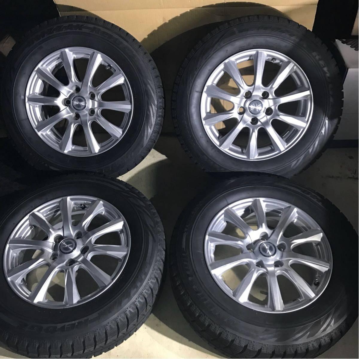 ブリジストン ブリザック REVO GZ 215/65R16 スタッドレスタイヤ ホイール 4本セット アルファード ヴェルファイア トヨタ純正ナット 対応