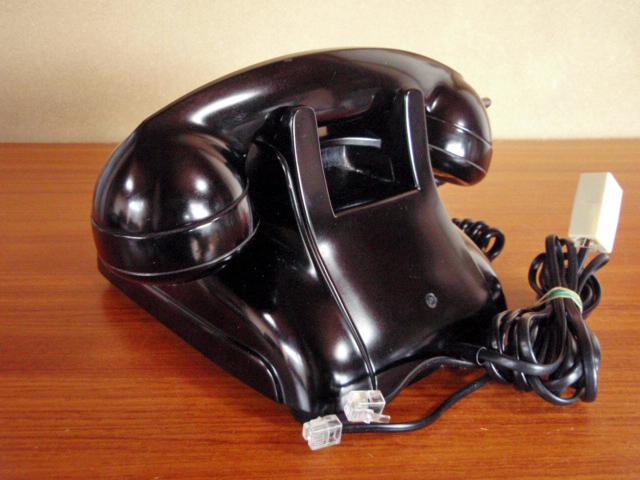 ★昭和の4号黒電話★整備済み 光回線/モジュラーケーブル延長仕様 骨董_画像6