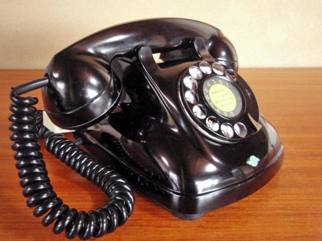 ★昭和の4号黒電話★整備済み 光回線/モジュラーケーブル延長仕様 骨董_画像7