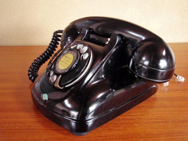 ★昭和の4号黒電話★整備済み 光回線/モジュラーケーブル延長仕様 骨董_画像4