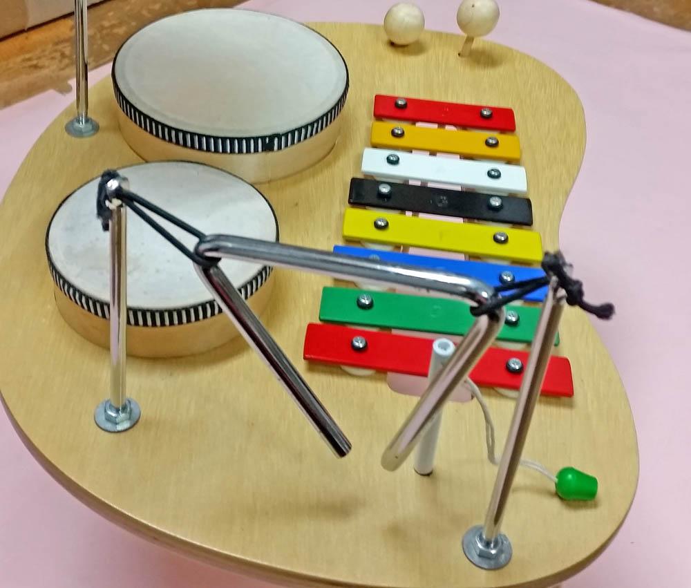 D-43 テーブル 楽器セット_画像3