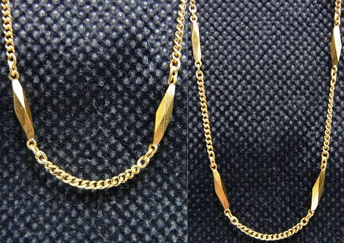 シチズン K18 切子ネックレス40cm イエローゴールド CITIZEN 18金 K18YG 造幣局ホールマーク 750YG 5.46g 地金GOLD日本製レディース女性用_画像7