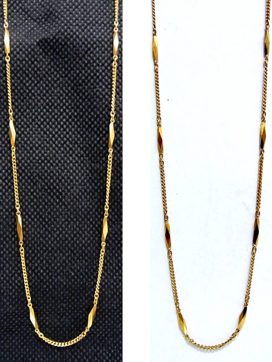シチズン K18 切子ネックレス40cm イエローゴールド CITIZEN 18金 K18YG 造幣局ホールマーク 750YG 5.46g 地金GOLD日本製レディース女性用_画像2