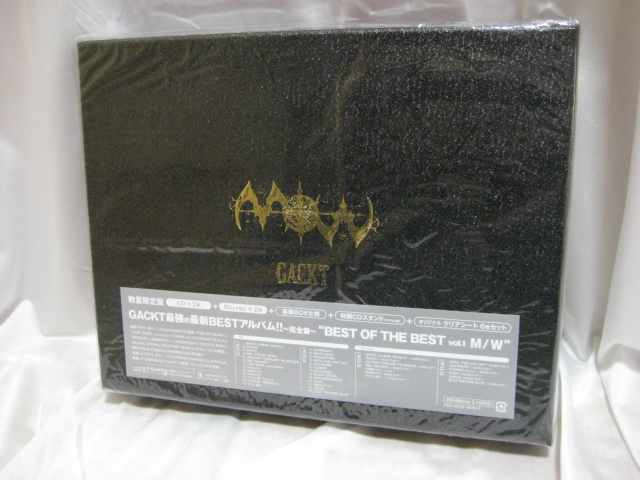 【送料込】GACKT「BEST OF THE BESTvol.1 M/W(初回限定版)」未開封新品 2CD+2Blu-ray仕様_画像1
