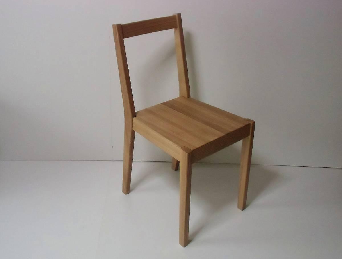 無印良品 タモ材 ダイニングチェア 椅子 廃番 ナチュラル 直接引取り可 18218