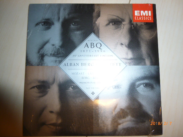 77/CD/ABQ(Alban Berg Quartett) 1971-1996 25th Anniversary edition 非売品_画像1