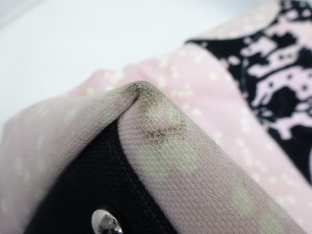 【人気】シャネル / CHANEL レディース トートバッグ  キャンバス×コーデュロイ ピンク ブラック_画像8
